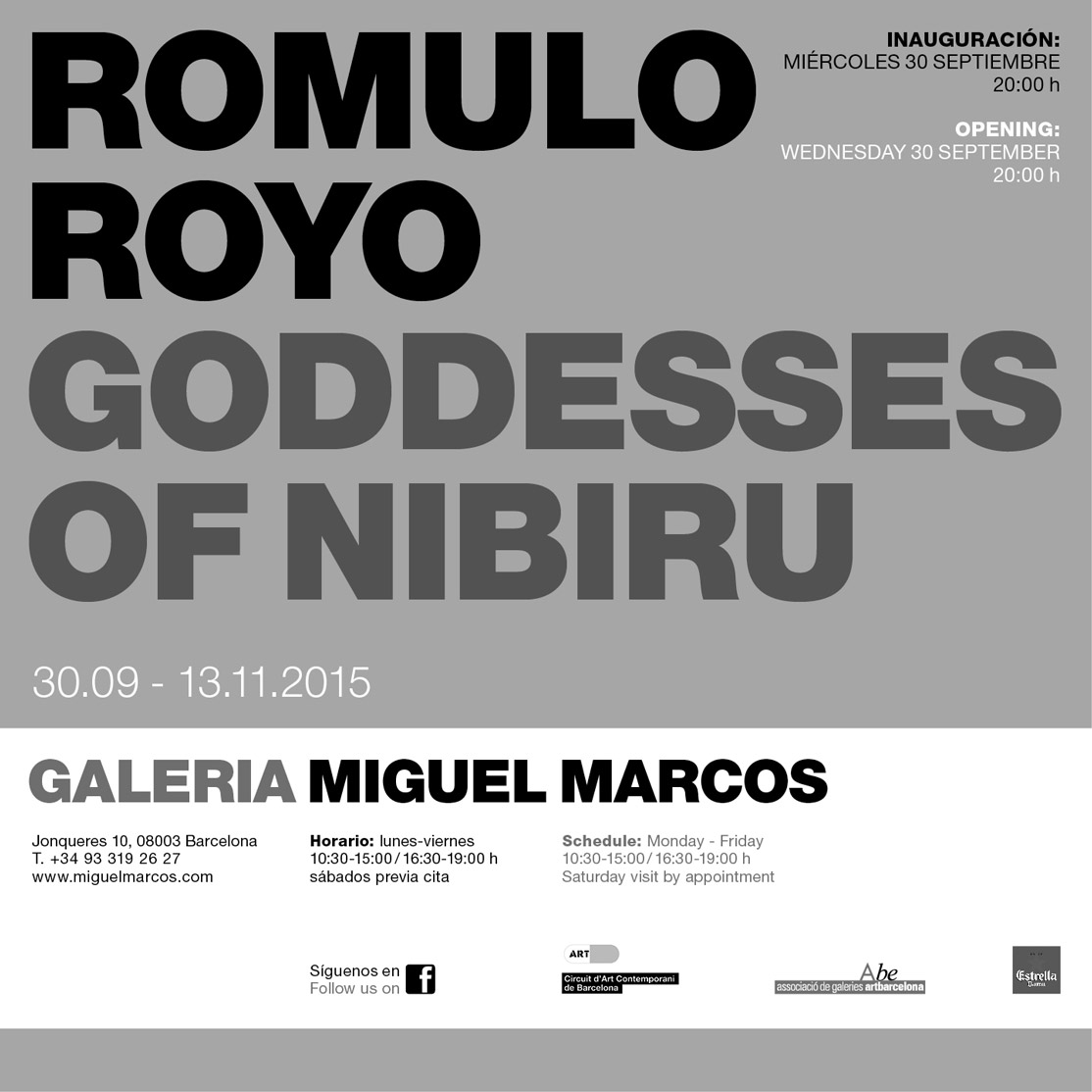 Invitation for the exhibition Goddeses of Nibiru 2015