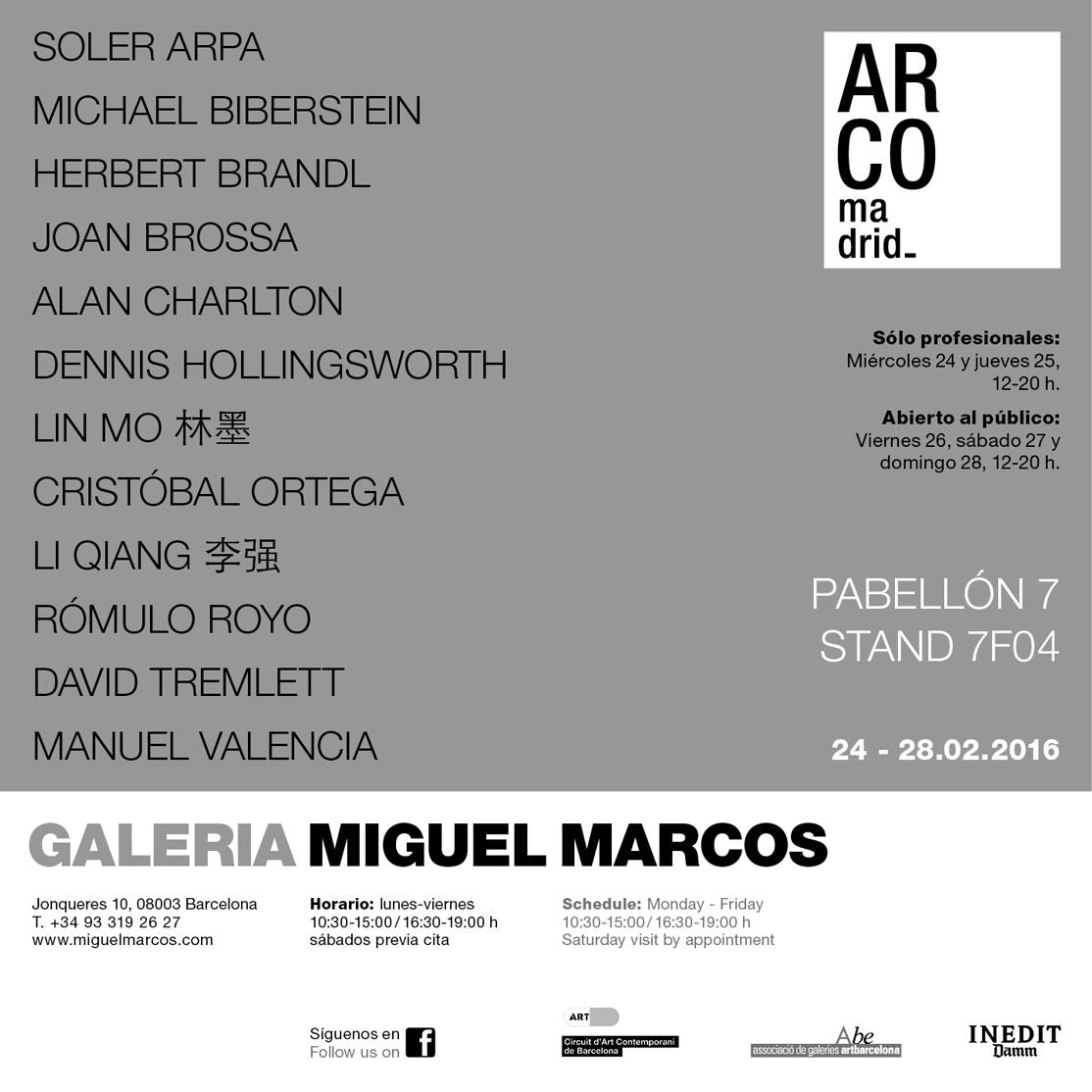 Miguel Marcos Gallery Banner Invitation