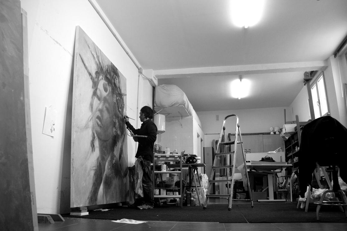 Romulo Royo painting, ARCO 2016