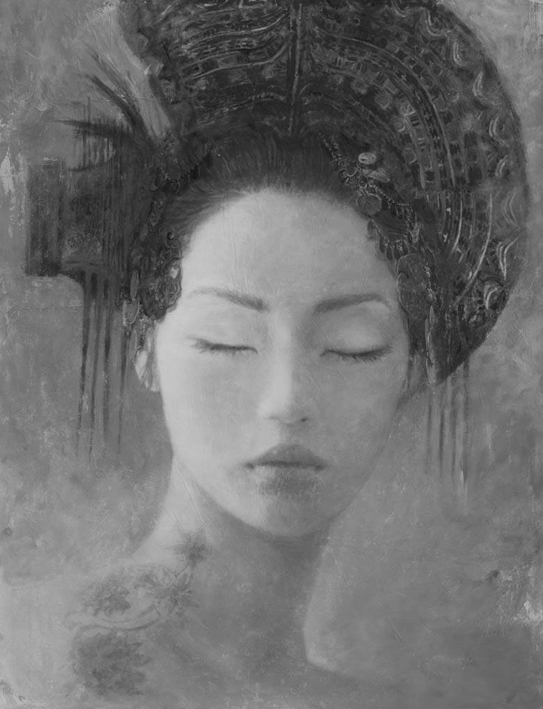 Iluminated by Jupiter - Goddesses of Nibiru Serie by Romulo Royo