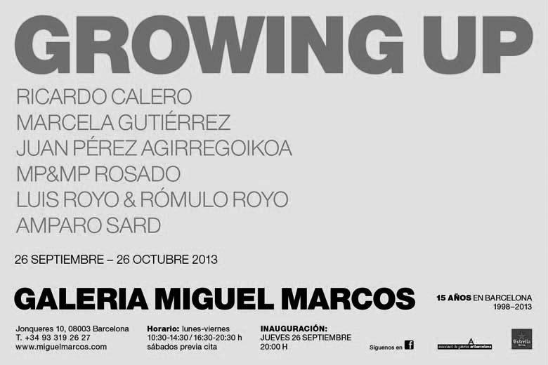 GROWING UP GALERIA MIGUEL MARCOS