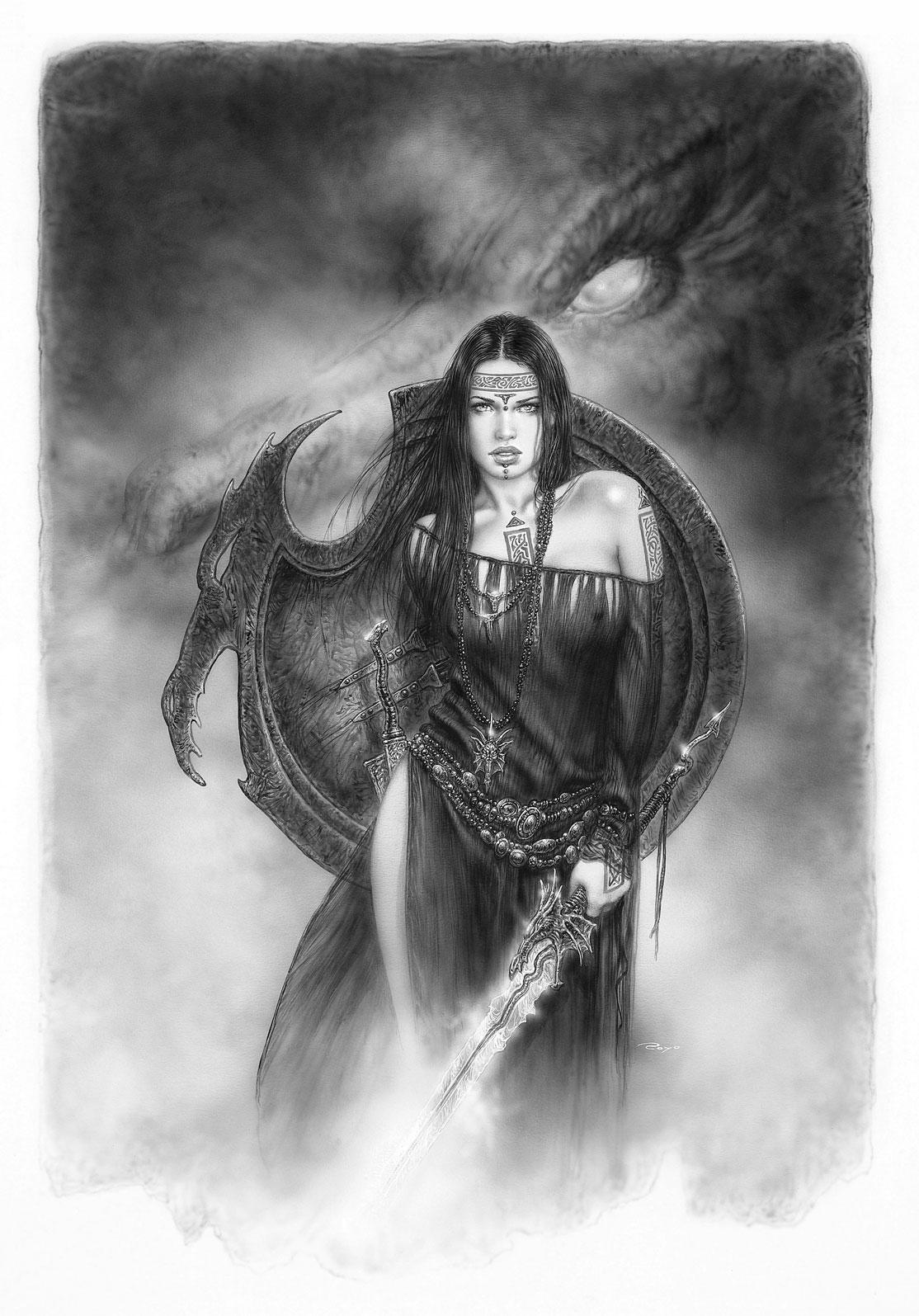 Ref 18426 - The Guardian of the Black Dragon - 30 x 47 cm - Subversive Beauty - pag 43 - Espada y Fantasia