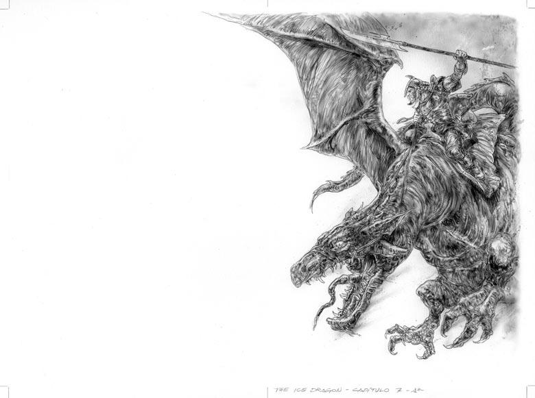 The Ice Dragon, dragon rider final version