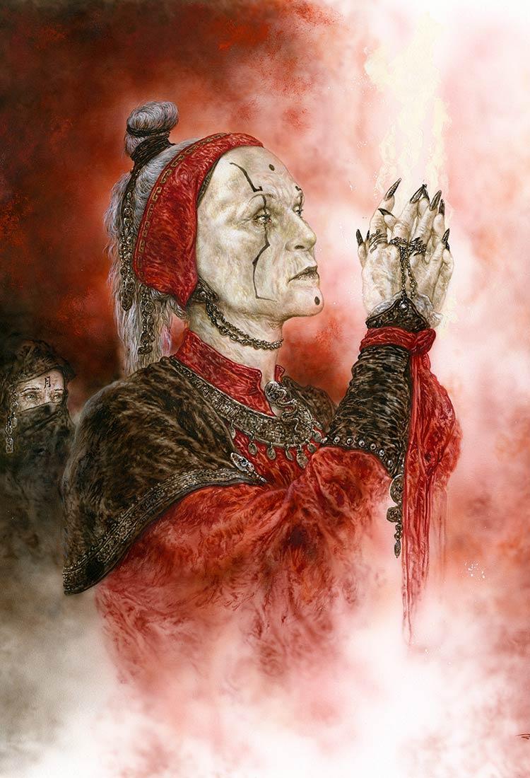 RomuloRoyo-Ref_596_Samael_II_Serie_Demons-Laberinto-Gris-gallery-contemporary-art-painting-drawing-Graphic_novel-biomechanical